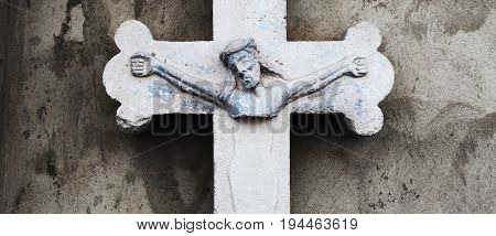 the crucifixion of Jesus Christ (ancient statue)