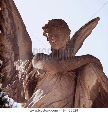 statue of angel as a symbol of faith and love