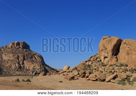 Elephant's Head Rock At Bulls Party In Ameib, Erongo, Namibia, Africa