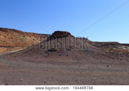 Landscape Around Burnt Mountain Near Twyfelfontein In Damaraland, Namibia