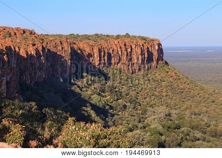 Forest and mountain at Waterberg plateau Namibia, Africa.