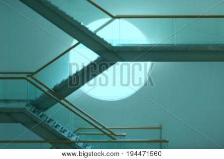 Blurry Photo Of Modern Staircase