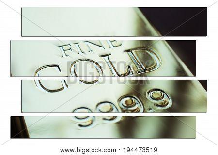 Gold Bar Art High Quality Close Up