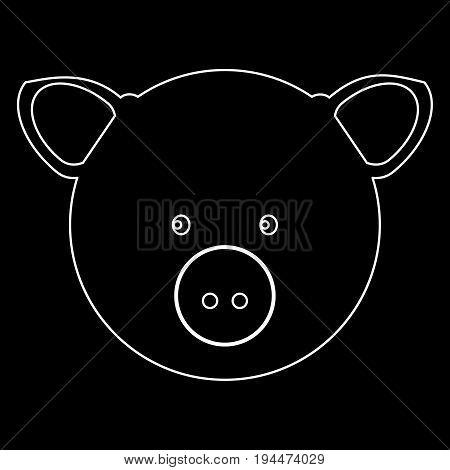 Pig Head  The White Path Icon .