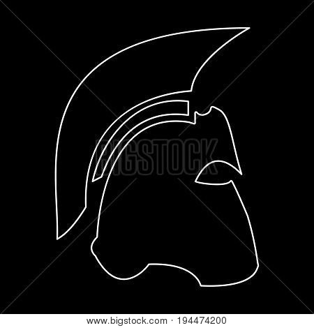 Spartan Helmet  The White Path Icon .