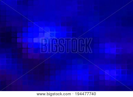 Dark Blue Abstract Rounded Mosaic Background