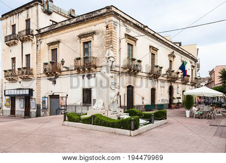 Town Hall On Piazza Municipio In Giardini Naxos