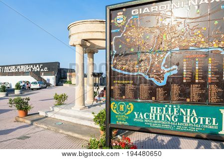 Outdoor City Map In Port Of Giardini Naxos City