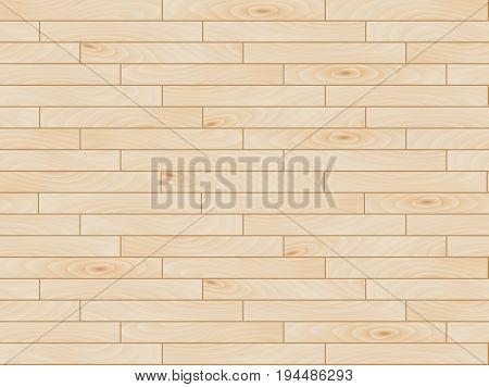 Seamless pine laminate parquet floor texture, vector illustration