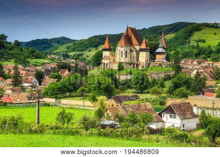 Fabulous saxon fortified church in best Transylvanian touristic village near Sibiu Biertan Transylvania Romania Europe