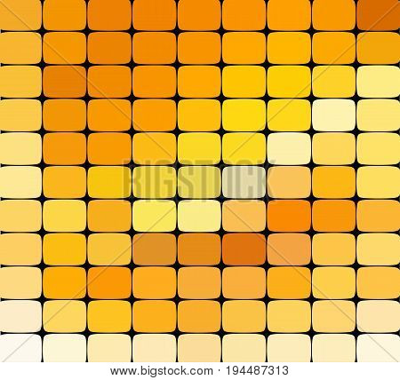 vector abstract colorful mosaic background. Yellow color An abstract background consisting of elements of a different shape, located in a mosaic style. Vector illustration.