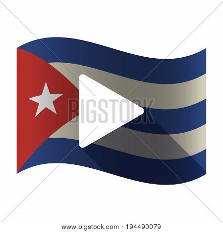 Isolated Cuba Flag With A Play Sign