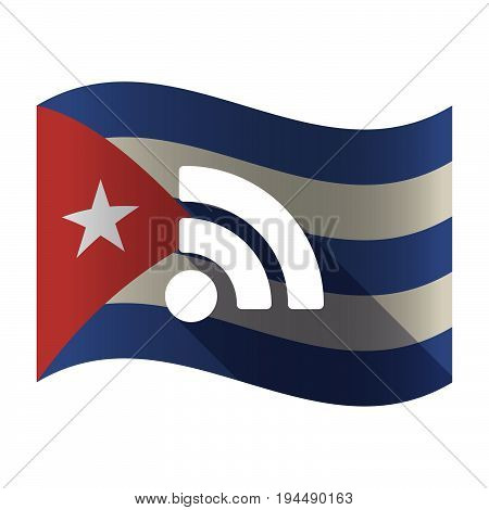 Isolated Cuba Flag With An Rss Sign
