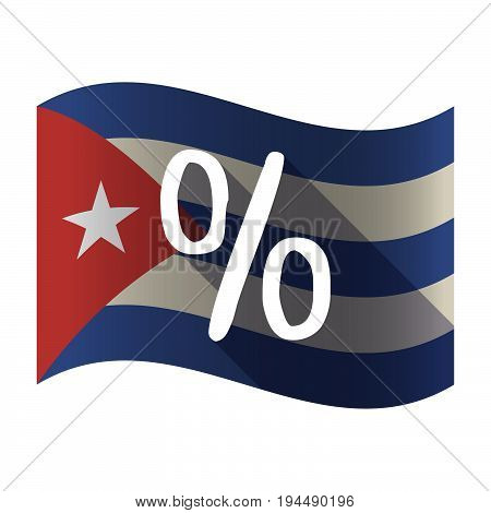 Isolated Cuba Flag With A Discount Sign