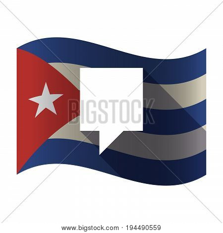 Isolated Cuba Flag With A Tooltip