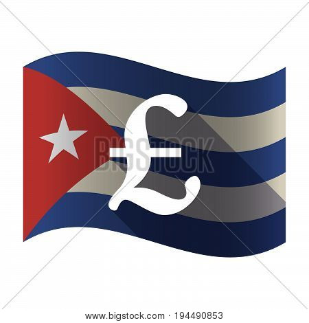 Isolated Cuba Flag With A Pound Sign