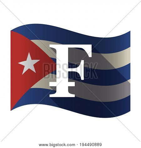 Isolated Cuba Flag With A Swiss Franc Sign
