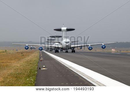 Nato Boeing E3 Awacs Radar Plane