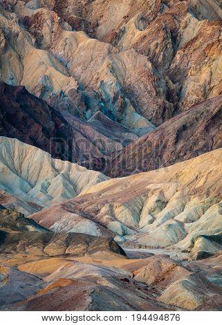 Colorful Twenty Mule Team Canyon at Sunrise