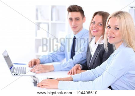 Business people at meeting in office. Success communication concept