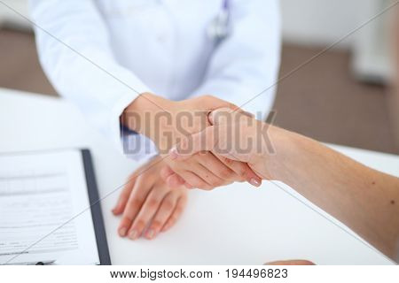 Partnership, trust and medical ethics. Medicine and health care concept