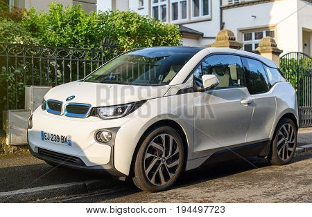Bmw I1 Parked In French City Street