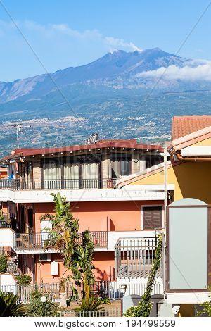 Residential Quarter In Giardini Naxos And Etna