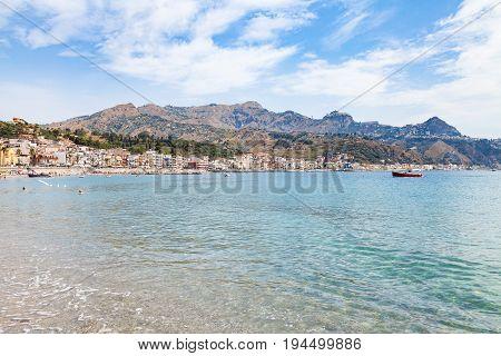 Water Of Sea Near Waterfront Of Giardini Naxos