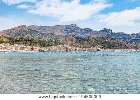Ionian Sea And View Of Giardini Naxos Town