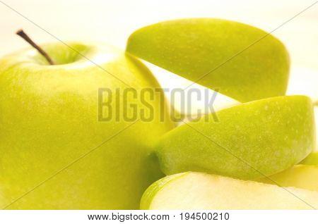 Granny smith apple with peel