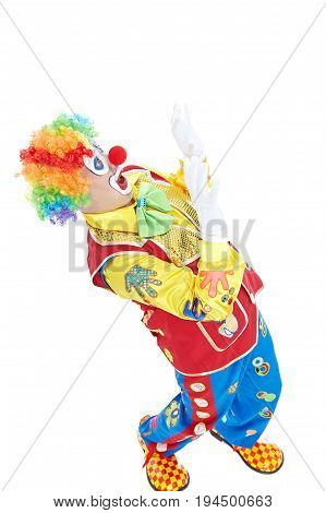 Portrait of a clown isolated on white background