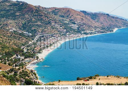 Letojanni Resort Town Of Shore Of Ionian Sea