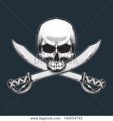 Pirates Jawless Skull And Swords