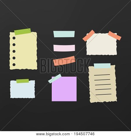 Line note papers scrap of paper for reminder message