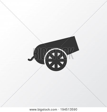 Bomb Icon Symbol. Premium Quality Isolated Cannon Element In Trendy Style.
