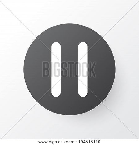 Pause Icon Symbol. Premium Quality Isolated Stop Element In Trendy Style.