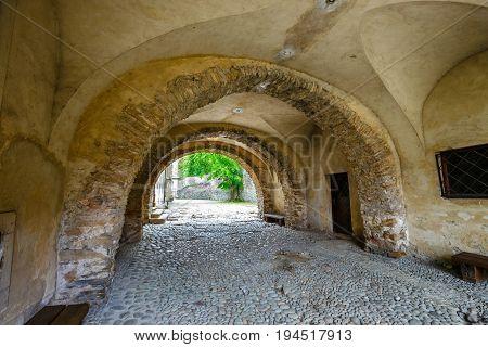 Famous Red Monastery Called Cerveny Klastor In Pieniny Mountains, Slovakia
