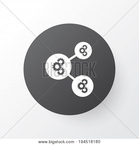 Gear Algorithm Icon Symbol. Premium Quality Isolated Algorithm Illustration Element In Trendy Style.