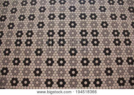Tile pattern on a New Jersey boardwalk
