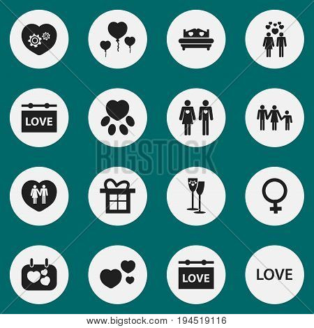 Set Of 16 Editable Amour Icons. Includes Symbols Such As Signboard, Lineage, Dear And More. Can Be Used For Web, Mobile, UI And Infographic Design.