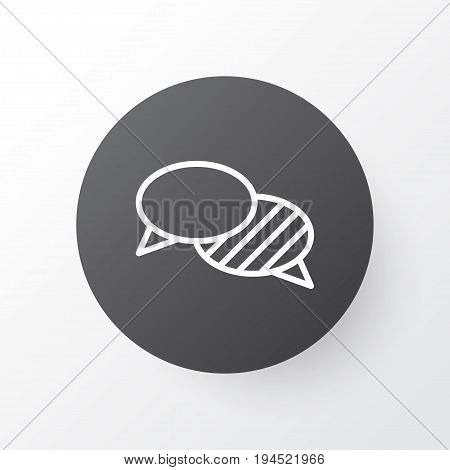 Conversation Icon Symbol. Premium Quality Isolated Speaking Element In Trendy Style.