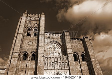 The catholic cathedral in Avila /12th-14th centuries, Spain