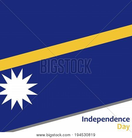 Nauru independence day with flag vector illustration for web