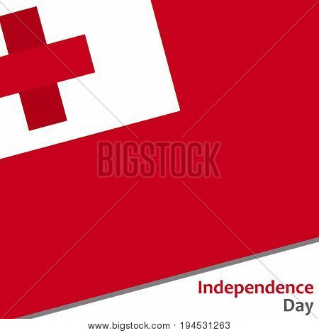 Tonga independence day with flag vector illustration for web