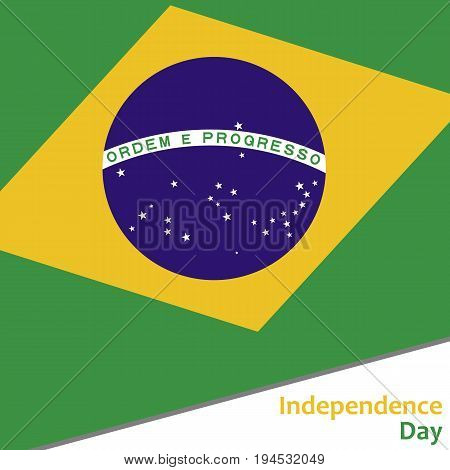 Brazil independence day with flag vector illustration for web
