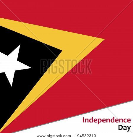 East Timor independence day with flag vector illustration for web