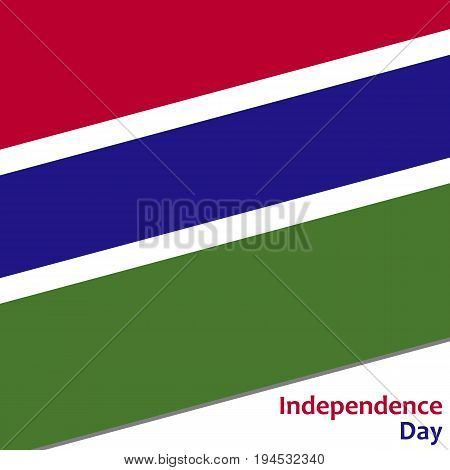 Gambia independence day with flag vector illustration for web