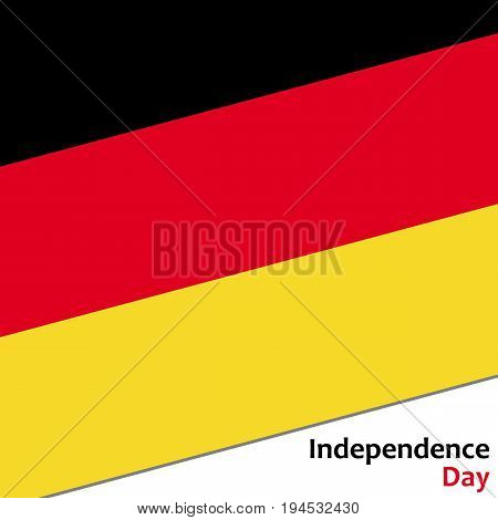 Deutschland independence day with flag vector illustration for web