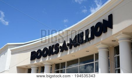 PERRYSBURG OH - JUN 25: A Books-A-Million store in Perrysburg OH is shown here on June 25 2017. There are 260 Books-A-Million stores.