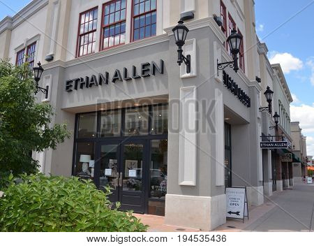 PERRYSBURG OH - JUN 25: An Ethan Allen store in Perrysburg OH is shown here on June 25 2017. There are over 300 Ethan Allen furniture stores.